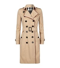 Burberry Runway Cord Trim Trench Coat Female Camel