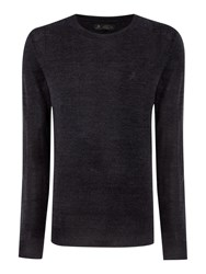 Label Lab Laffitte Crew Neck Knit Dark Grey