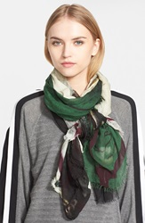 Yigal Azrouel Print Modal And Cashmere Scarf Jet Multi