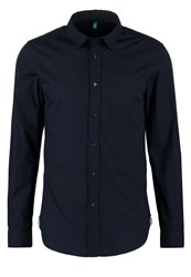 United Colors Of Benetton Slim Fit Shirt Navy Dark Blue