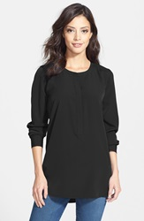 Nydj Woven Tunic Top Regular And Petite Black