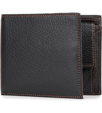 Simon Carter Cinnamon Stitched Soft Leather Wallet Black