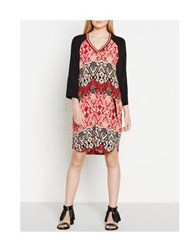 Maison Scotch Printed Baseball Dress Red