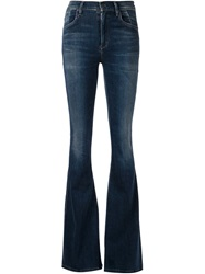 Citizens Of Humanity Flared High Waisted Jeans Blue