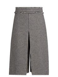 J.W.Anderson Hound's Tooth Wool Blend Pleated Culottes Black White