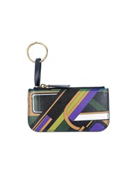 Emilio Pucci Small Leather Goods Key Rings Women Dark Green