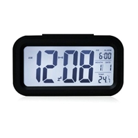 5.3 Smart Simple And Silent Led Alarm Clock W Date Display Repeating Snooze And Sensor Light Night Light Black White Night Light Amazon.Co.Uk Kitchen And Home