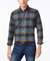 Barbour Castlebay Plaid Long Sleeve Shirt A Macy's Exclusive Style Bright Blue