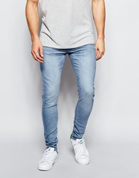 New Look Skinny Fit Jeans In Light Wash Blue
