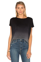 Heather Ombre Boxy Top Black