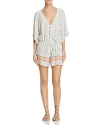 Faithfull The Brand Yacht Floral Romper Faded Out Print