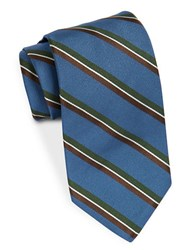 Brooks Brothers Classic Double Stripe Tie Blue