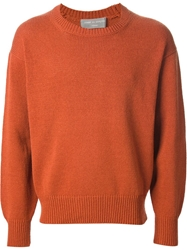Comme Des Garcons Homme Vintage Crew Neck Sweater Yellow And Orange