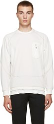 And Wander Off White Zip Pocket Pullover