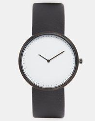 Asos Watch With White Face Black