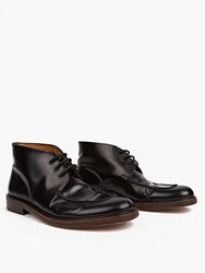 A.P.C. Black Corentin Smooth Leather Boots