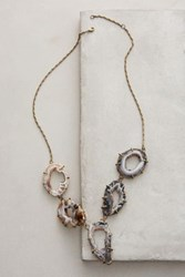 Anthropologie Astral Travel Necklace Gold