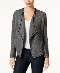 Styleandco. Style Co. Drape Front Terry Jacket Only At Macy's Deep Black