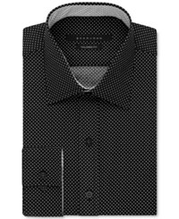 Sean John Men's Big And Tall Classic Fit Dot Dress Shirt Black