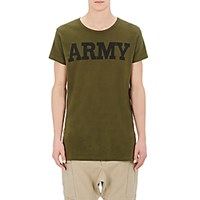 Nlst Men's Army T Shirt Dark Green