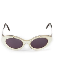 Jean Paul Gaultier Vintage Iridescent Sunglasses Nude And Neutrals