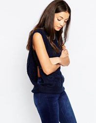 By Zoe By Zoe Molly Cable Knit Sleevless Jumper Night