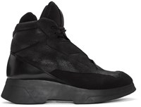Julius Black Coated High Top Sneakers