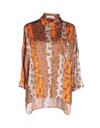 Aglini Shirts Shirts Women Orange