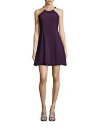 Betsy And Adam Embellished Fit Flare Straps Purple
