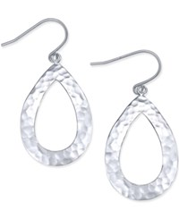 Giani Bernini Hammered Teardrop Drop Earrings In Sterling Silver Only At Macy's