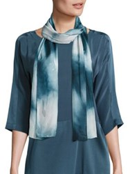 Eileen Fisher Silk Shibori Scarf Black