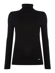 Episode Wool Mix Knit Turtleneck Jumper Black