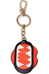Karl Lagerfeld Monster Mouth Leather Keychain Red