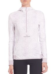 Adidas By Stella Mccartney Essential Hooded Pullover White Lavender