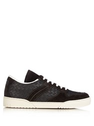 Bottega Veneta Intrecciato Leather Low Top Trainers Grey