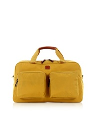 Bric's X Travel Gold Nylon Boarding Duffle With Pockets