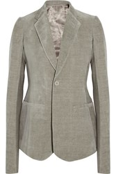 Rick Owens Cotton And Linen Blend Blazer Gray