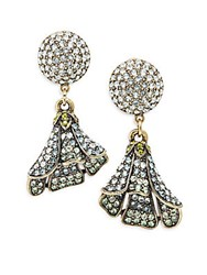 Heidi Daus Pick Of The Day Crystal Drop Earrings Gold