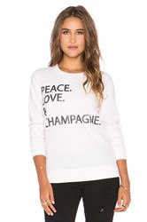 Chaser Peace Love Sweatshirt Pink