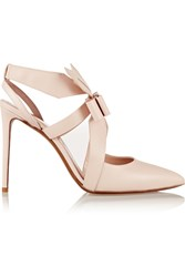 Nicholas Kirkwood Bow Embellished Leather Pumps Pink