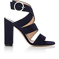 Gianvito Rossi Women's Rylee Ankle Wrap Sandals Navy