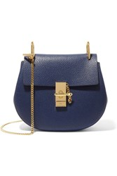 Chloe Drew Small Textured Leather Shoulder Bag Navy