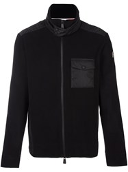 Moncler Grenoble Zip Front Chest Pocket Jumper Black
