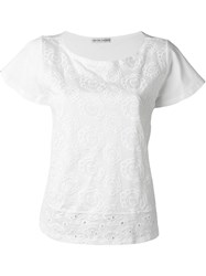 Tsumori Chisato Embroidered T Shirt White