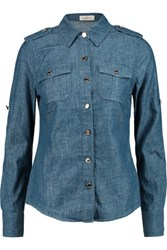Tory Burch Bridgette Denim Shirt Mid Denim