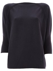 Maison Ullens Texture Detail Knitted Blouse Blue
