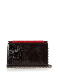 Christian Louboutin Vanite Hammered Patent Leather Clutch Black