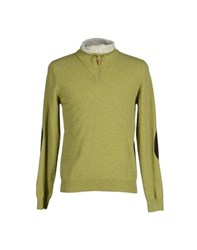 Altea Knitwear Turtlenecks Men Acid Green