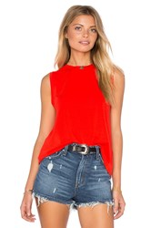 1. State Sleeveless Twist Back Tank Red