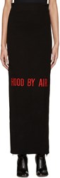 Hood By Air Black Double Zip Maxi Skirt